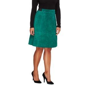 Liz Claiborne New York Hepburn Suede Skirt